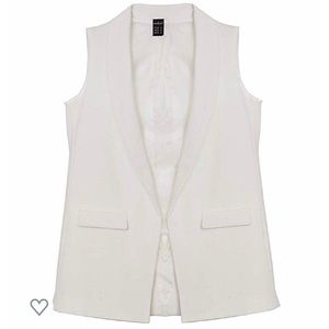 Jackets & Blazers - Women's Sleeveless White Blazer Vest